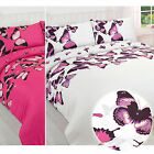 Pretty Butterfly Duvet Cover - Reversible Bedding Set - For Teenage Girl Bedroom