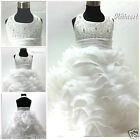 Off Whites Communion Christening Bridesmaid Flower Girls Dresses SIZE 2,3,4,5,6Y