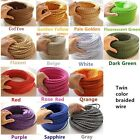 1/5M Vintage Color Twist Braided Fabric Cable Wire 2 Core Electric Light Lamp
