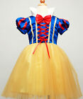 girls Snow White princess fancy dress costume skirt Dance Party Gift Clothes