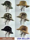 Bucket Hat 100% Cotton Assorted Styles  NWT