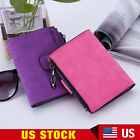 New Women Mini Grind Magic Bifold Leather Wallet Card Holder Solid Wallet Purse