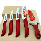 2 Colors Flower Painted Ceramic Knife Set Cutlery Kitchen Cook Knife New
