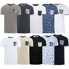 Brave Soul Mens Designer Short Sleeve Crew Neck Single Chest Pocket T Shirts