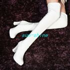 Womens Fur Lined Stretchy Over The Knee High Boots Block Heel Knight Boots Shoes