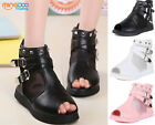 New Summer Children Girls Sandals Youth Kids Breathable Shoes Open Toe Size 9-3