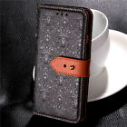 Genuine Leather Flip Case Wallet Cover Stand Magnetic for Samsung Galaxy Holster