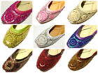 Beaded India Khussa Shoes Patent Leather Top Assorted Colors