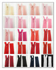 """No.3 CONCEALED 5"""" - 40"""" CLOSED END NYLON ZIPS PEACH PINK RED HABERDASHERY ZIPPER"""