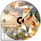 S-935 CD CLOCK-LITTLE GIRL ANGEL BY LIGHTHOUSE WITH RABBIT-DESK OR WALL CLOCK