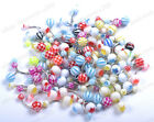 10pcs Mixed Different Acrylic Ball Navel Belly Bars Ring Body Jewellery