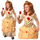GOLDEN PRINCESS COSTUME GIRLS FILM MOVIE CHARACTER FANCY DRESS WORLD BOOK DAY