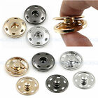 10-21mm Metal Buttons Snap Fastener Press Stud Popper Sew On Sewing Fabric Craft