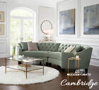 USA Restoration Chesterfield Cambridge Horchow Style Modern Sectional Sofa