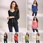 Fashion Plus Size Women's Long Sleeve Tunic Tops Casual Loose Blouse T-Shirt New
