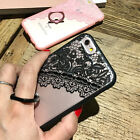 Luxury Thin Lace With Finger Ring Stand Case Cover Skin For iPhone 5s SE 6 6plus