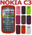 AMZER Silicone Skin Jelly Back Gel Protective Cover + extra Case For Nokia C3