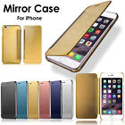 Luxury Mirror Clear Ultra Slim View Flip Leather Case Cover For iPhone 7 6 Plus