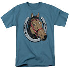 LUCKY HORSE FACE IN HORSEHOE Adult T-Shirt All Sizes