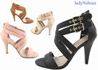 high heels shoes men - NEW Women's Ankle Strap Buckle Strappy High Heel  Sandal Shoes size 6 - 11