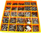 1890 ASSORTED M8 A4 STAINLESS SOCKET BUTTON CSK CAP SCREW NUT WASHER METRIC KIT