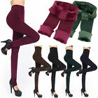 Women's Winter Thick and Warm Fleece Lined Thermal Stretchy Leggings Pants JR