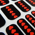 Valantine CHIX NAILS Red Black Hearts Love Vinyl Nail Wraps Fingers Toes Foils