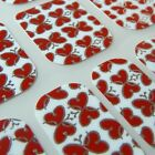 Valantine CHIX NAILS Butterfly Hearts Love Vinyl Nail Wraps Fingers Toes Foils