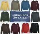 NEW Men's Croft & Barrow Crew Neck Long Sleeve Sweater solid colors NWT