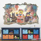 Full Colour 3D LEGO Movie Smashed Wall Art Sticker Decal Mural Transfer - LMOV1