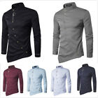 Stylish Men's Luxury Design Casual Shirts Slim Fit Long Sleeve Dress Shirt Tops
