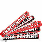 "INDEPENDENT TRUCK CO ""Bar"" Skateboard Sticker 4"" 10cm Decal INDY Black Red White"