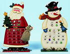 WOODEN WOOD 38CM CHARACTER CHRISTMAS ADVENT CALENDAR DECORATION WITH PICTURES BN