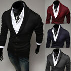Mens Casual Slim Fit Long Sleeve Sweaters Shirts Jacket Coat Cardigan hot