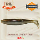 Sawamura One'Up Shad Fishing Bait Mold Mould Shad DIY Lure Tackle 50-125 mm
