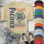 Pacifico Beer T-Shirt Custom Designed Color Worn Label Pattern