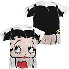 Betty Boop BIG BOOP HEAD 2-Sided Sublimated All Over Print Poly T-Shirt £22.34 GBP on eBay