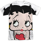 Betty Boop BIG BOOP HEAD 1-Sided Sublimated Big Print Poly T-Shirt $29.0 CAD