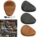 """Motorcycle 3"""" Spring SOLO Bracket Black brown Skull Seat Leather For Harley"""