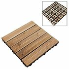 Anti-Slip Wooden Garden Patio Interlocking Decking Flooring Tiles 30cm x 30cm