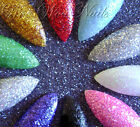 20 Hand Painted False Nails Full Cover Press on Nails Various Glitter Colours