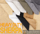 "Heavy Duty SHERPA SHEEP SKIN Faux Fur fabric 60"" Wide Sold by The Yard"