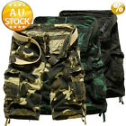Cargo Pants Trousers Casual shorts pocket more than Military CAMO Combat Army L
