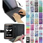 For Samsung Galaxy Tab 4 8.0 Micro USB Keyboard Case Cover Stand Flip Tablet