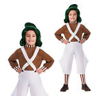 Rubies Childs Official Willy Wonka Chocolate Factory Oompa Loompa Costume OR Wig
