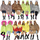 Smiffys Adults Novelty Party Poncho Coats Waterproof Festival Kagool With Bag