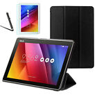 """Thin Leather Case Cover, Tempered Glass & Stylus For ASUS ZenPad 10.1"""" Z300M"""