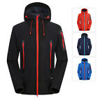 Men Softshell Waterproof Windproof Hooded Outdoor Jacket Hiking Sportswear Hot