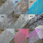 9 Colors  Stretch Floral Lace Ivory,Turquoise, Beige, Black, Watermelon,Pink zh6