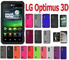 AMZER Skin Jelly Luxe Argyle Snap On Case Screen Guard For LG Optimus 3D P920